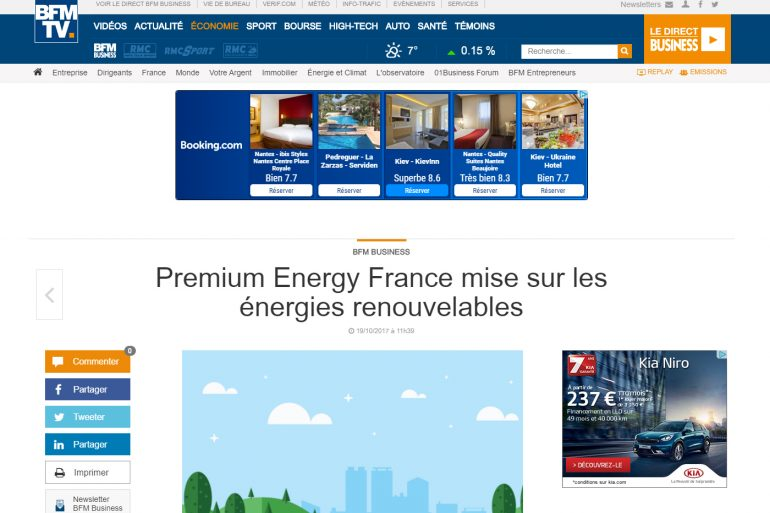 Reportage BFM Business sur Premium Energy France